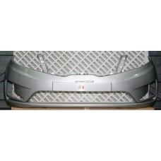 Бампер передний Kia Rio 2011-2015 Серебристый металлик RHM (Серебряный глянец)